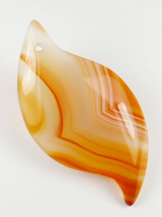 S-Shape Pattered Agate Pendant Bead – 51x26x5mm by StoneLegend
