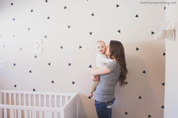 Vinyl Wall Sticker Decal Art – Mini Triangles by urbanwalls