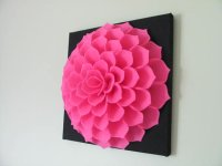 Fabric Flower Wall Art Pattern SOPHIA FLOWER Felt Flower