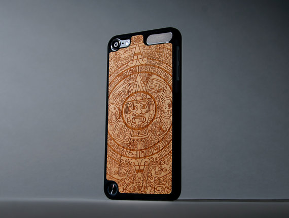 Aztec Calendar iPod Touch 5th Generation Wood Case – FREE Shipping by carvedproducts