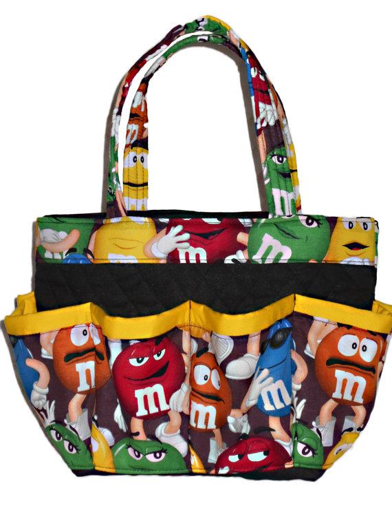 M&M Bingo Bag // 8 Pocket // Great for Craft and Makeup Organizer by sewtrendyrose