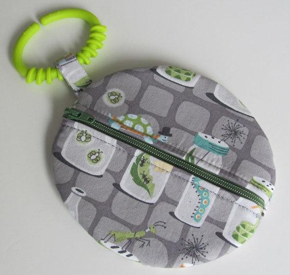 Backyard Baby Bug Jar Fabric Paci Pod Binky Pouch Pacifier Case by sewbrookstone