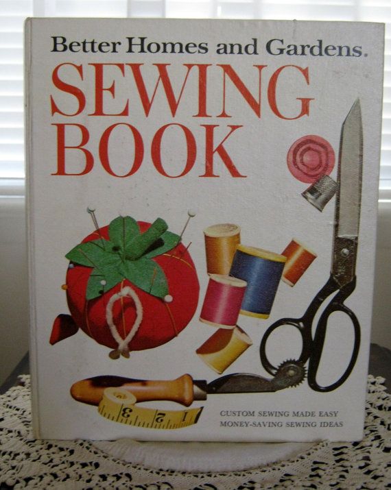 Vintage Better Homes and Gardens Sewing Book Illustratred Hardcover Spiral Book by SloFabulous