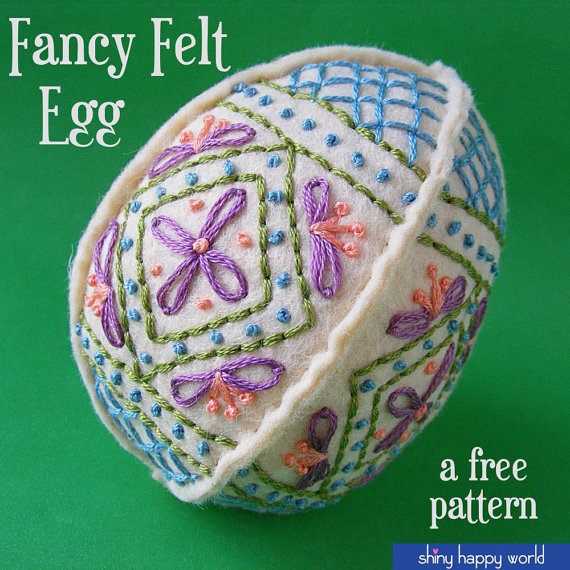 Fancy Felt Easter Egg by ShinyHappyWorld