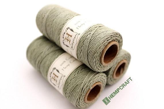 1mm Hemp Twine, Mint Green, High Quality Hemp Craft Cord by HempCraft