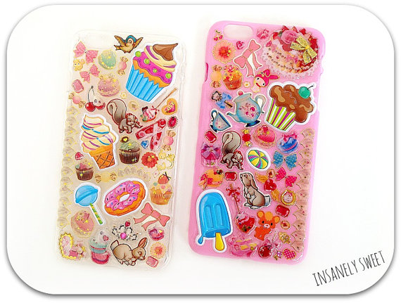 Kawaii Iphone 6 Plus Phone Case- Your choice. by InsanelySweetJewelry