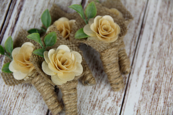 Rustic Boutonniere by Rusticblend