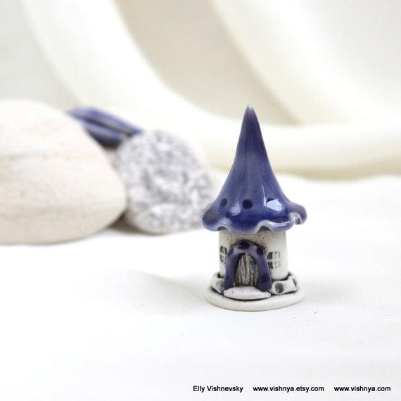 Purple lavender Fairy House – Hand Made Ceramic Eco-Friendly Home Decor by studio Vishnya by vishnya