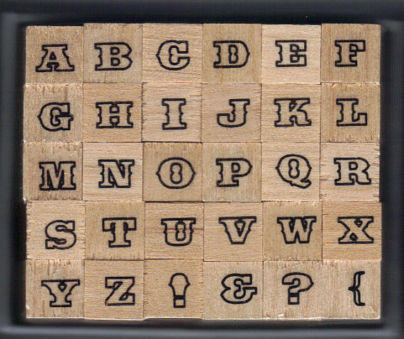 BRAND NEW Studio G wooden Alphabet stamp set (30 stamps) by HoleyCow