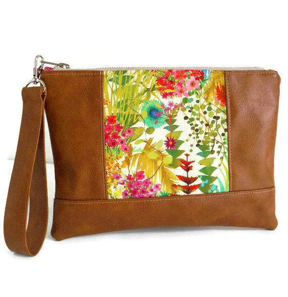 Liberty of London Tresco – Wristlet – Purse – Clutch Bag – Vegan by peskycatdesigns