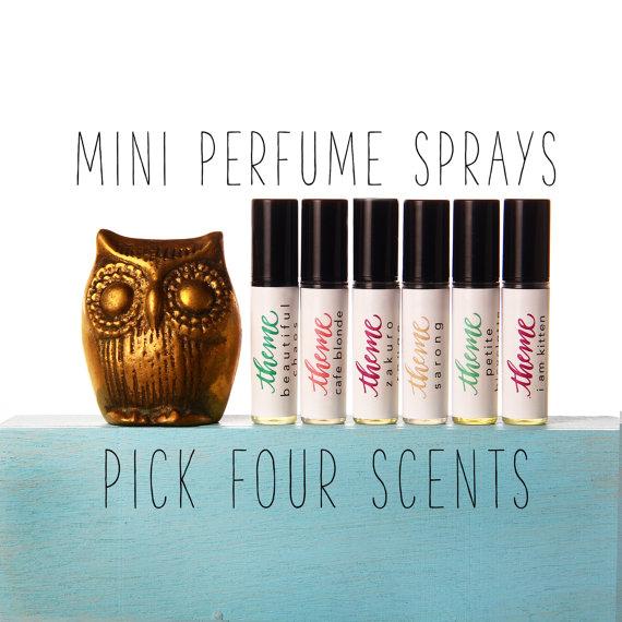 Perfume Set – Perfume gift set, Mini spray perfume, Perfume spray set, Perfume sample by themefragrance. Pick four by themefragrance