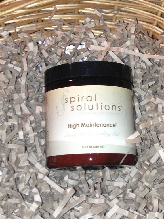 High Maintenance Firm Hold Curling Gel – 8 oz. by SpiralSolutions