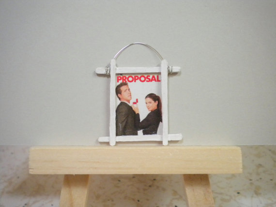 Miniature Movie Poster for Dollhouse or Mini Display The Proposal by heresthething