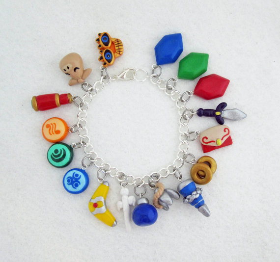 Choose Your Items Legend of Zelda THEMED bracelet with 17 charms by egyptianruin