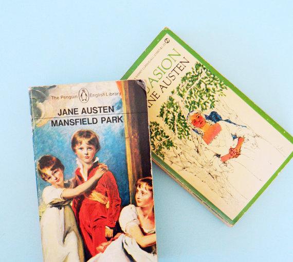 Vintage Jane Austen Paperback Set / Collectible Vintage Paperbacks / Gift for Austen Lover / Vintage Fiction Novels by AmeliaBedeliaVintage