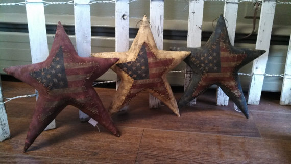 Primitive Americana Red White Blue Flag Stars. WOW by needlinaround
