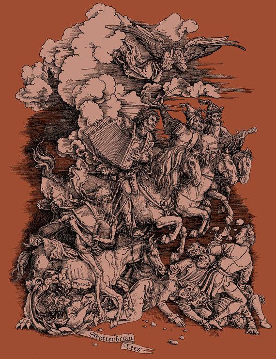 Atonal Apocalypse Graphic Tee – Women's T-shirt SML XL XXL by ScatterbrainTees