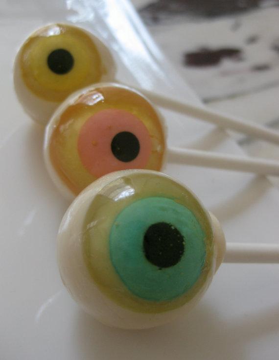 Eyeball Halloween Lollipops 1/2 dozen by sweetniks