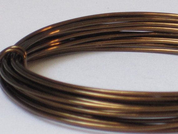 Bronze Color Jewelry Wire – 18 gauge (Qty 10 ft) 65-121 by LunarImages