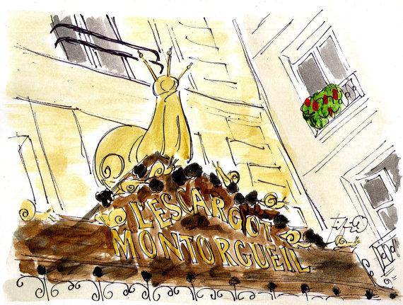 L'Escargot Montorgueil Paris by fififlowers