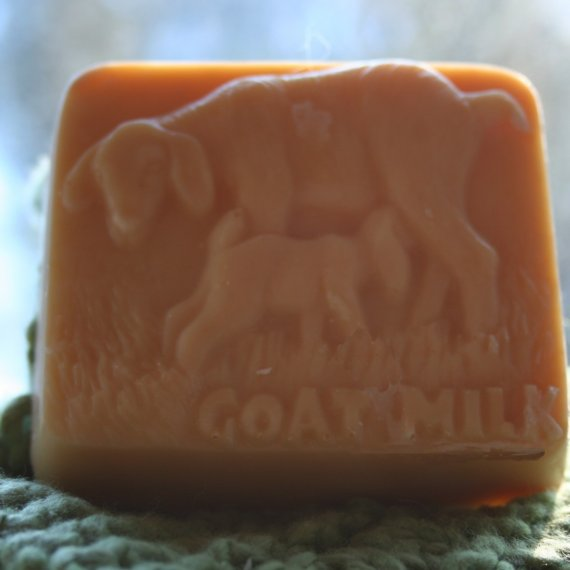 Floral Scented Goat's Milk Soap, Abby and Nora the Soap, Floral Goat Soap, Goat Motif Goat's Milk Soap, Homemade Soap, Made in Montana Soap by happygoatsoap