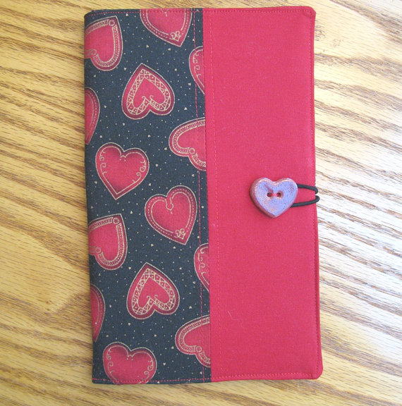 Hearts Notepad Case by judywhitneycreations