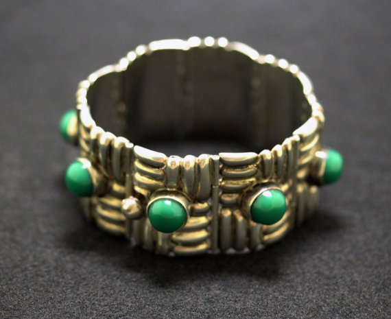 Horacio de la Parra Silver Bracelet 1940s by TaxcoandMore
