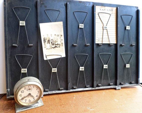 Vintage McCaskey Receipt Holder, Clip Receipt Tray, Unique Photo Display by VintageRescueSquad