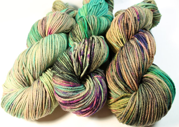Squish DK – 250 yards – Hand Dyed Yarn – Superwash Merino – Mermaids With Attitude by SpunRightRound
