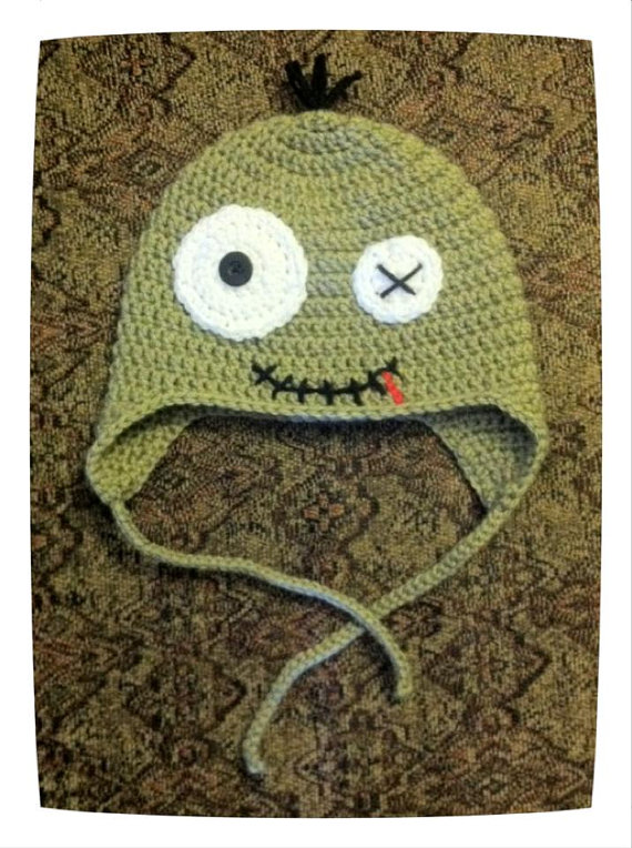 Zombie Hat – choose size by craftyamber