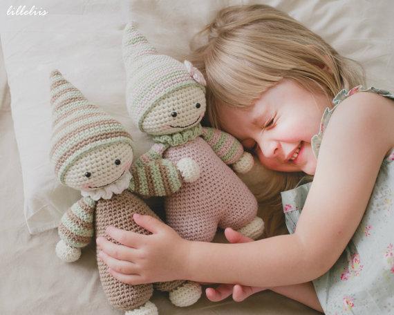 PATTERN – Cuddly-baby – crochet pattern, amigurumi pattern, pdf by lilleliis