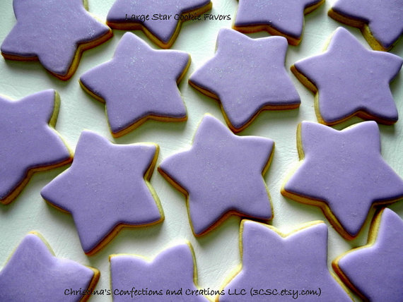 Large 4 inch Star Cookie Favors for any Occasion (#2332) by 3CSC