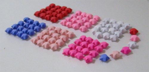 Lucky Stars (100): Valentine Mix by OrigamiJoy