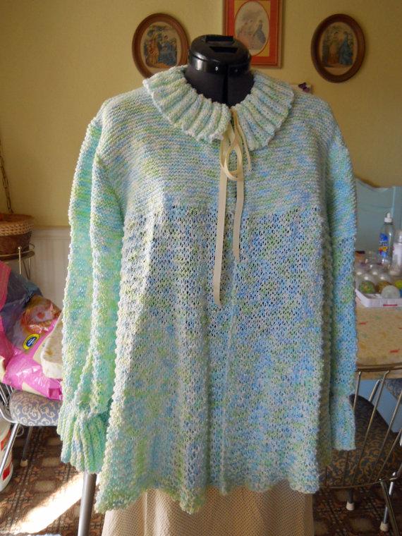 1949 Knit Bed Jacket Pattern by patternsalacarte