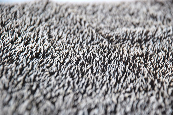 HEDGEHOG FABRIC -Mohair natural fabric by WoolFinchStudio