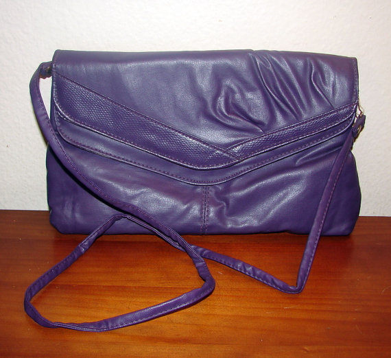 Royal Purple Envelope Clutch / Shoulder Bag by GITANO by KCsheartsonhersleeve