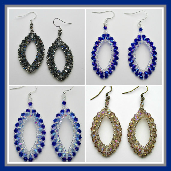Raining on Prom Night Earrings PDF Pattern Instant Download by offthebeadedpath