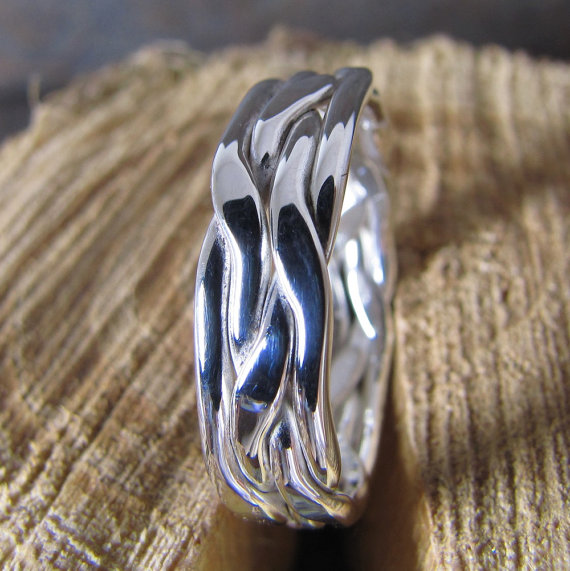 Man's Silver Ring, Man's Wedding Band by DogsKinJewelry