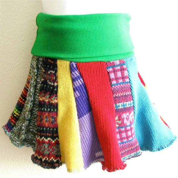 SALE – THREE Child Sized Sweater Skirts – Grab Bag by handmadepretties