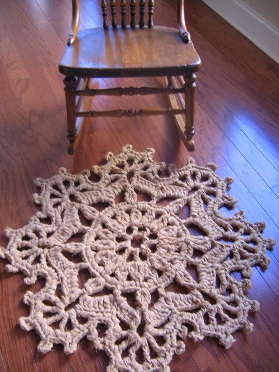 Rag Crochet Rug Pattern Fans on the Edge by RaggedyAnns