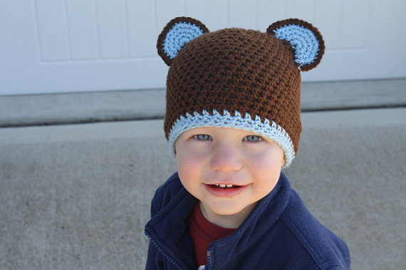 340521cd099 PDF Pattern for Crocheted Bear Beanie (10 SizesNewborn to Adult) Instant  Download by TheWigglyBridge