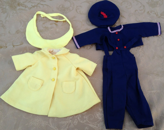 Vintage Doll Clothes Sailor Suit and Coat by Vintageworks