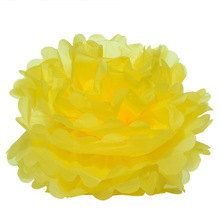 18 & quot; Lemon Yellow Tissue Paper Pom Poms- Extra Large Paper Flower Pom- Wedding Decoartion-Baby Shower- Bridal Decor- Hanging Room Paper Pom by HeathersBlankets