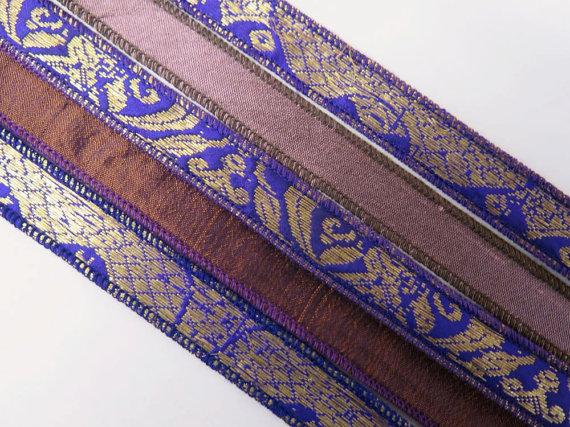 Purple Bracelet Ribbon Mix, W479 by RibbonsAndSilk