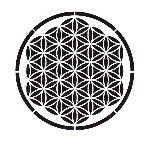 Flower Of Life Stencil, Sacred Geometry, Ancient Symbols, Mylar Stencil, Painting Stencil, pochoir, art supply stencil, hexagon, mandala by TheBeadSource