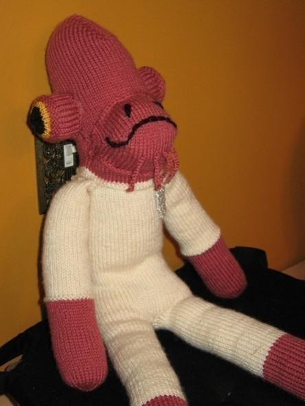 STAR WARS Admiral Ackbar Sock Monkey Knitting Pattern PDF by carbonscoring