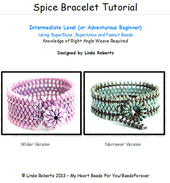 Beading Tutorial – Spice Bracelet Pattern – Right Angle Weave by beadsforever