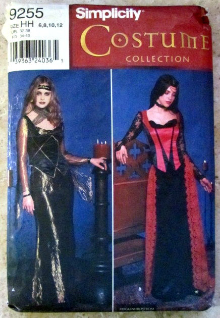 Simplicity 9255 Misses Renaissance Costume Sz 6-12 Costume Collection Pattern by CoyoteMoon62