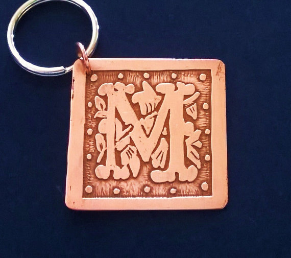 Etched Copper Keychain or Key Ring by RestringIt