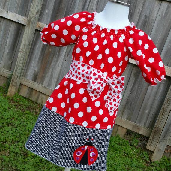 Valentine's Lady Bug Dress by personalitychildrens